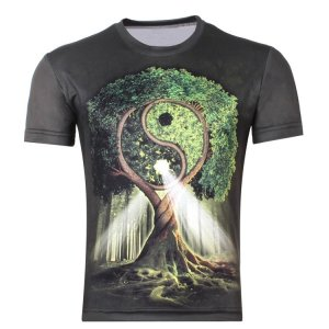Men's Sacred Tree Ying Yang T-Shirt 7