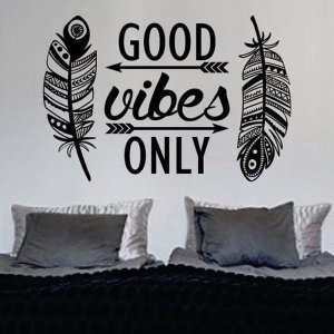 Boho Style Good Vibes Wall Sticker 1