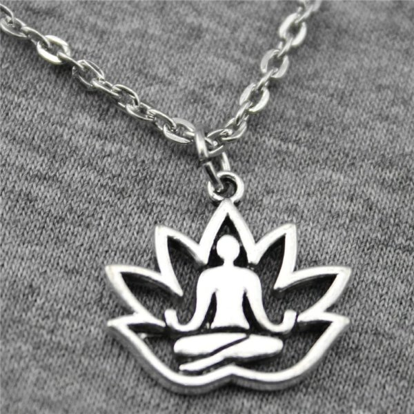 Lotus Buddha Chain Necklace 1