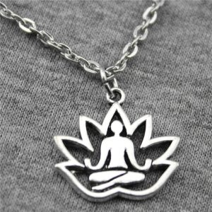 Lotus Buddha Chain Necklace 14