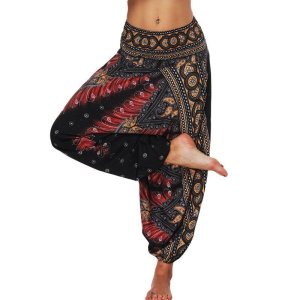 Women's Boho Print Loose Harem Pants 5