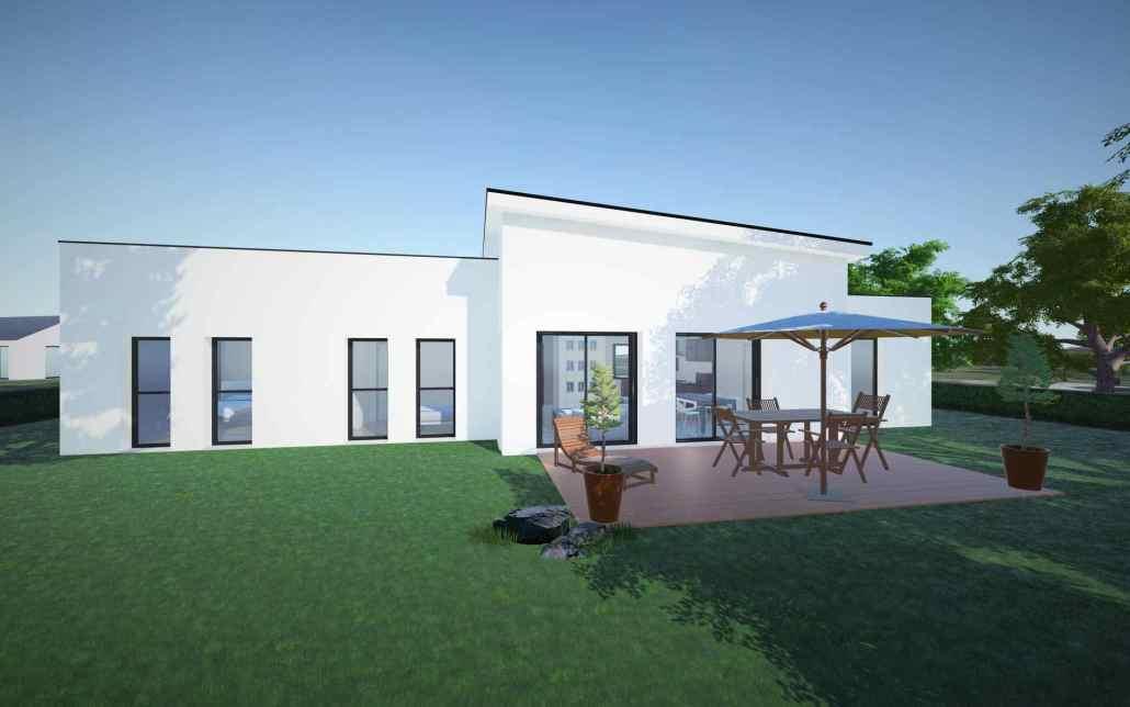 Vue large jardin maison individuelle Angers application 3D intéractive