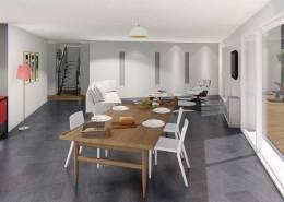 Rendu architecture intérieur images et vidéo vue salon 2