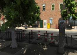 French City Assets Pack 1 for Unity used in a city scene