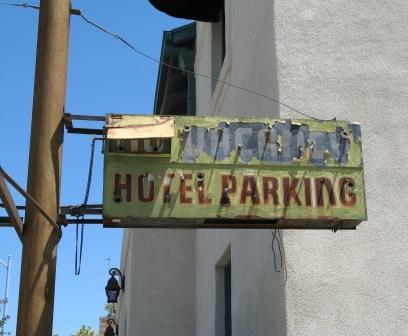 No Vacancy at The Pueblo Hotel in downtown Tucson, Arizona.