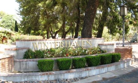 Entrance to the Winterhaven neighborhood in Tucson, Arizona