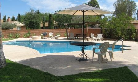 The community pool at the Randolph House community is a great place to enjoy Tucson's weather.
