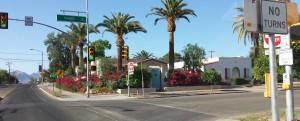3rd Street Bike Boulevard intersection near the University of Arizona campus