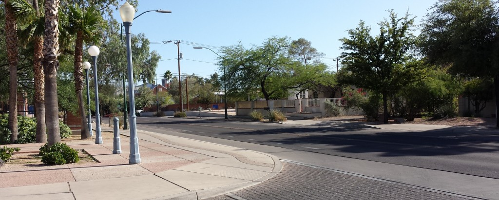 Mountain Ave. bike boulevard just north of University of Arizona
