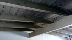 Many Lusk built houses feature exposed wood beam ceilings