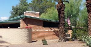 San Rafael Estates home - Burnt Adobe construction