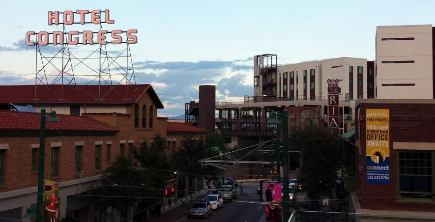 View of the east end of Downtown Tucson