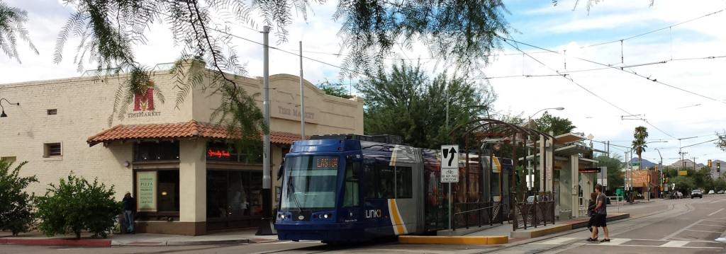 Streetcar on University Blvd in Tucson