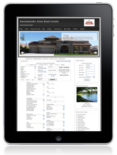Mobile WordPress Real Estate IDXbroker on iPad