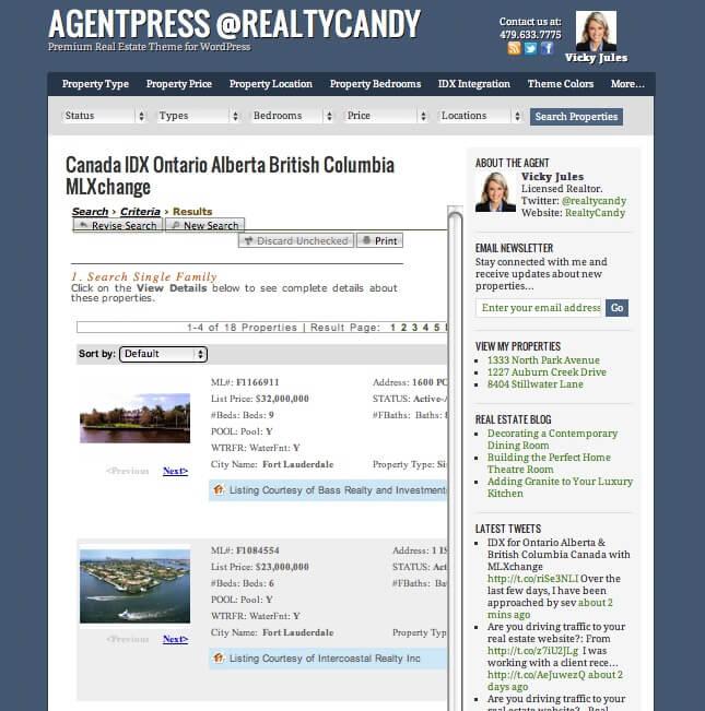 MLXchange agentpress idx Florida Rhode Island