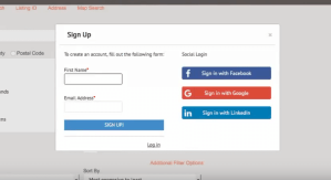 IDX broker facebook and social account login