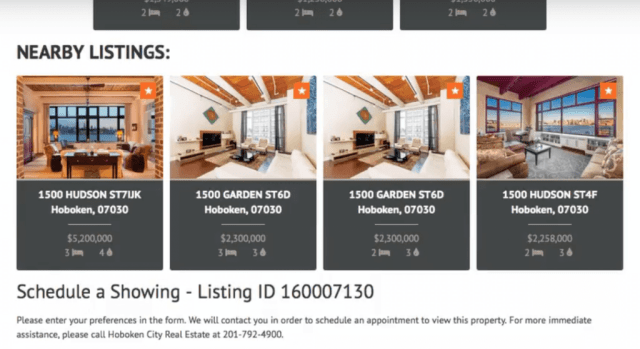 IDX Broker nearby listings