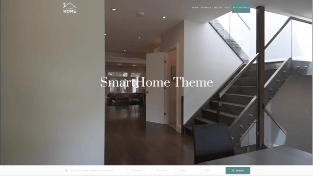 Smart Home free easy to use real estate theme download customizer features