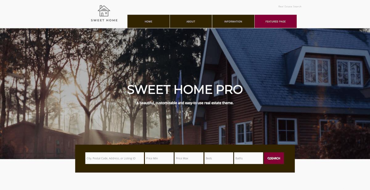 Sweet Home Pro Full Website Setup Real Estate Wordpress and IDX Broker Real Estate Theme
