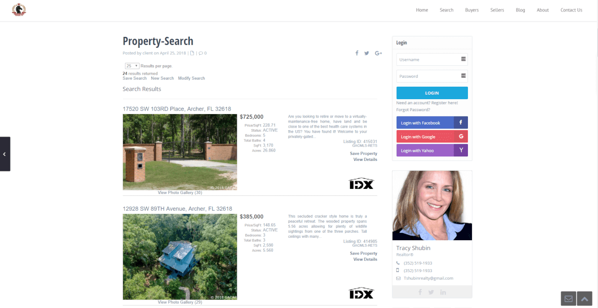 tracy shubin realty wpresidence wordpress idx broker site setup