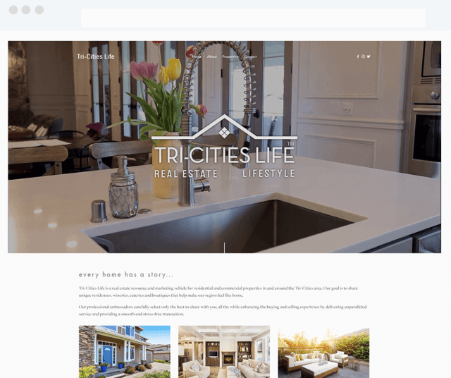Tri-Cities Life Squarespace and IDX Broker Website