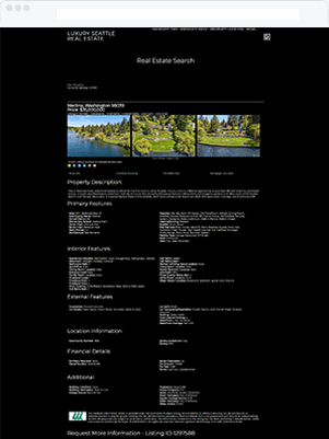 seattle luxury details template idx broker customization