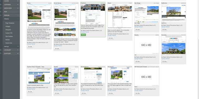 Choose a free details page design for IDX Broker