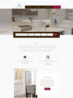 Sweet Home Theme Free Real Estatte IDX Broker WordPress Theme mockup