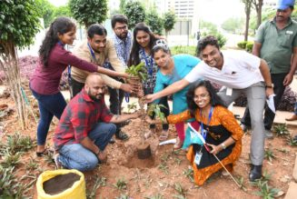 Tree Plantation at Embassy Office Parks RealtyMyths