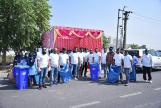 Omaxe World Street, Faridabad flags off Cleanliness Drive