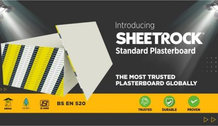 USG Boral launched SHEETROCK® Standard Plasterboard in India