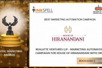 House of Hiranandani wins Gold Award in the Best Marketing Automation Campaign category at 'Drivers of Digital Awards & Summit 2021'