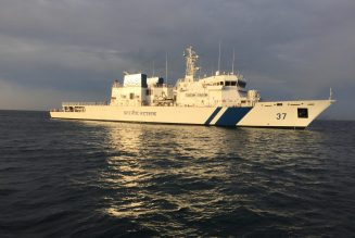 L&T-Built Sixth Offshore Patrol Vessel ICGS Vajra  Commissioned into the Indian Coast Guard