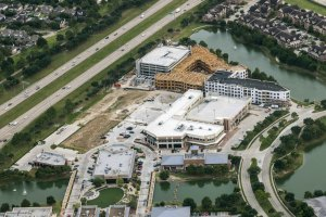Aerial photo of LaCenterra, a mixed-use project under development on the Grand Parkway in far west Houston.