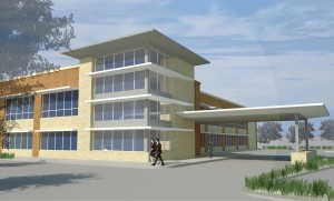 Rendering of Mischer Investments medical development in Cypress, near Houston.
