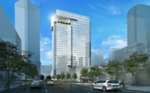 Rendering of Six Houston Center, a proposed Crescent designed by HKS Inc.