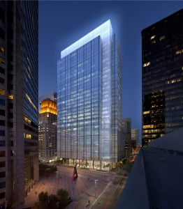 This is a rendering of Skanska's proposed Capitol Tower, designed by Gensler.