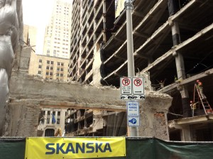 In 2014, Skanska demolished the Houston Club building to make way for Capitol Tower. Photo credit: Ralph Bivins