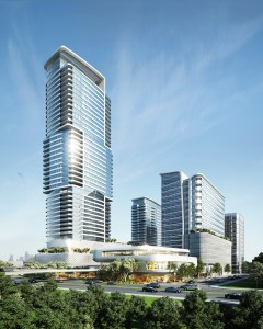 HOK has designed a mixed-use project for a site on Allen Parkway, just west of downtown Houston.