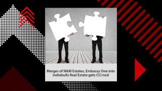 Merger of NAM Estates, Embassy One into Indiabulls Real