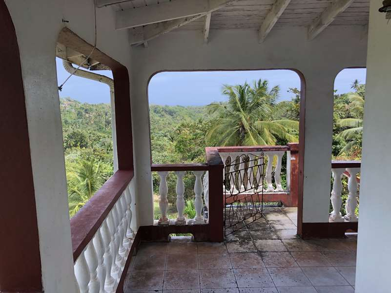 balcony 2 Fixer Upper House For Sale St Lucia, Mon Repos Micoud