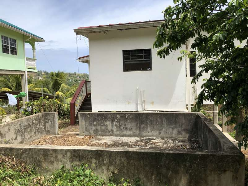 back pit Fixer Upper House For Sale St Lucia, Mon Repos Micoud