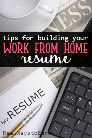 Creating Your Work From Home Resume  Resume Writing Jobs