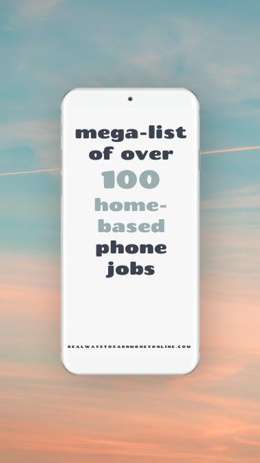 100 home-based phone jobs