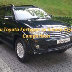 New Venturer Vs Innova Yaris 2018 Trd Cvt Toyota Fortuner Crysta Comparison Real