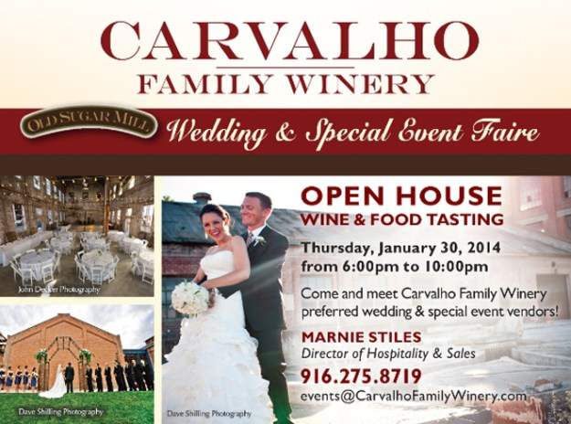 Carvalho Family Winery at Old Sugar Mill Bridal and Special Event Faire