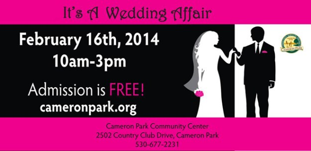 Reminder…It's a Wedding Affair is TOMORROW!