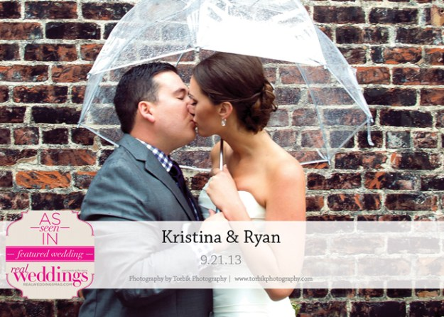 Featured Real Wedding: Kristina & Ryan {from the Summer/Fall 2014 Issue of Real Weddings Magazine}