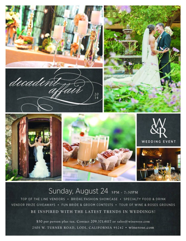Save-the-Date: A Decadent Affair, Presented by Wine & Roses Hotel, Restaurant & Spa