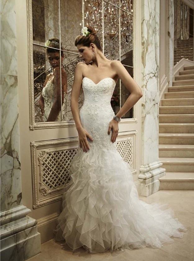 Real Weddings Dazzling Dresses: Casablanca Goes Hollywood